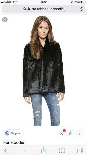 RTA rabbit fur hoodie - FLASH SALE for Sale for sale  New York, NY