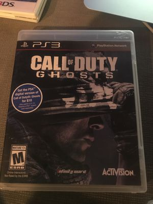 PS3 call of duty ghosts for Sale in Kirkland, WA