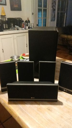 Home theater speakers only (5) for Sale in Santa Ana, CA