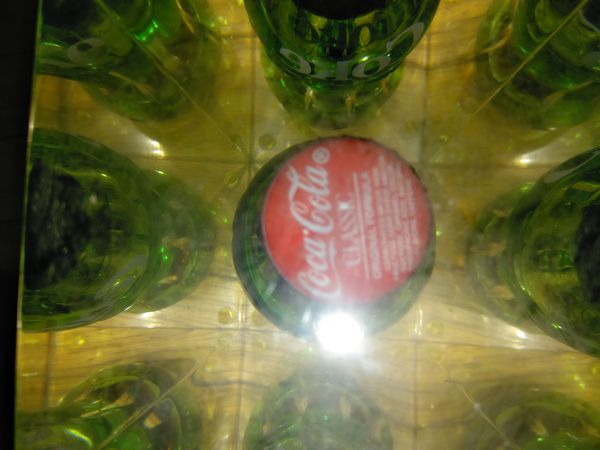 Vintage collectable Coke bottle in glass