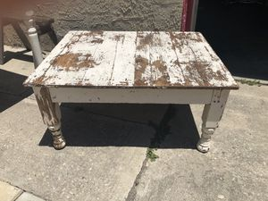 40 Year Old Mexican White Pine Hardwood Table in original condition. for Sale in Torrance, CA
