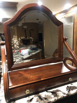 Ethan Allen dresser mirror and jewelry/watch box for Sale in El Cajon, CA