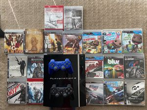 (Priced to sell) Sony PlayStation PS3 + lots of games for Sale in San Mateo, CA