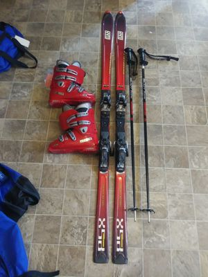 """185 skis 9 1/2 boots 50"""" ski poles for Sale in Montrose, CO"""