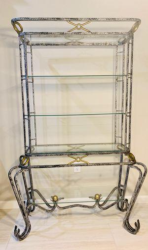 Vintage Antique shelving curio showcase bar showcase unit for Sale in Groveland, FL