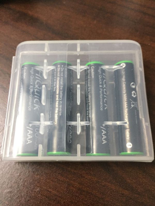 Brand new rechargeable AA & AAA batteries 2 x 4 packs never used sealed