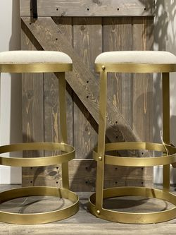 """TWO 31"""" Dior Metal Bar Stools. MSRP $1488. Our price $575 + sales tax for Sale in Woodstock,  GA"""