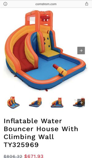 Inflatable Water Bouncer House With Climbing Wall for Sale in Chino Hills, CA