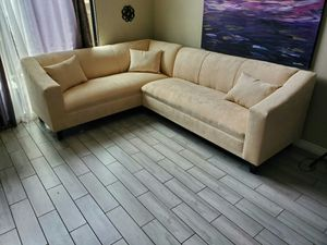 NEW 7X9FT GIBSON CREAM FABRIC SECTIONAL COUCHES for Sale in La Cañada Flintridge, CA