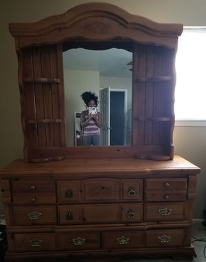 Dresser W/ Mirror ***All offers welcome*** for Sale in Tulsa, OK