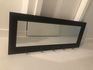 Wall Mirror with hooks for Sale in Miami, FL