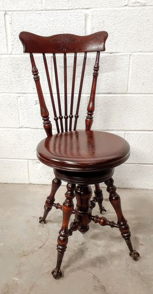 Antique Claw Foot Glass Ball Piano Chair for Sale in Houston, TX