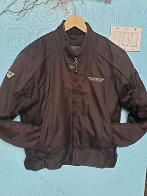 Fly Racing FLY STREET COOLPRO MEN'S MOTORCYCLE JACKET BLACK LARGE SIZE for Sale in Everett, WA