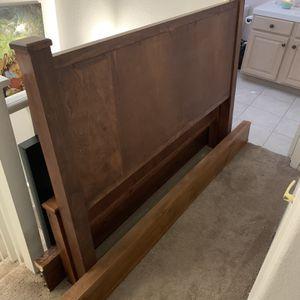 Queen Size Heavy Duty Wooden Bed Frame for Sale in Scottsdale, AZ
