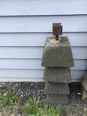 Four (4) Pier (Post) Blocks for Sale in Lake Stevens, WA