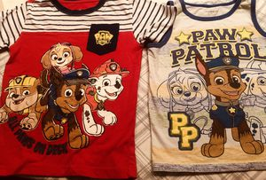 Adorable Nickelodeon Paw Patrol Toddler Tops + Mask! - Size 5T for Sale in Ellenwood, GA