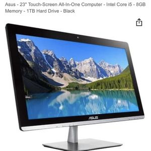 Asus Core I5 8gb Ram 1 terabyte Gaming Touchscreen Windows 10'pro Sure Fast Beautiful 24 Inch Screen Comes With Keyboard Mini Bluetooth for Sale in Lakeland, FL
