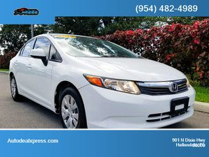 2012 Honda Civic Sdn for Sale in Hallandale Beach, FL