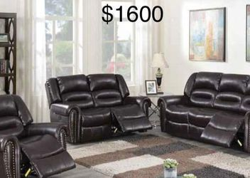 New Power Recliner Couch , Loveseat and Chair Only $50 Down Payment for Sale in Los Angeles,  CA