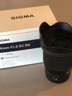 Sigma 16 mm F1.4 DC DN for Sony E-mount for Sale in Montebello,  CA