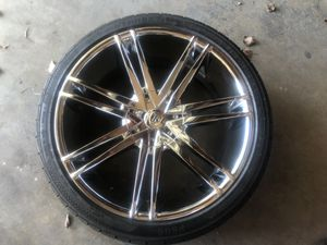 22in rims tires included for Sale in Federal Way, WA