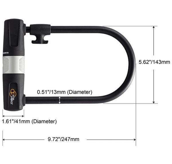 Bike/ Bicycle U Lock with Cable (Brand New)