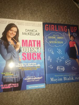 2 Self Help Books for Teen Girls (Middle School Math & Puberty) for Sale in Upland, CA