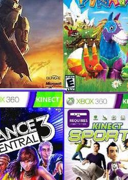 4 XBOX 360 Games + Kinect for Sale in Vancouver,  WA