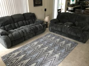 Beautiful Brand New Charcoal Grey Sofa and Loveseat for Sale in Oceanside, CA