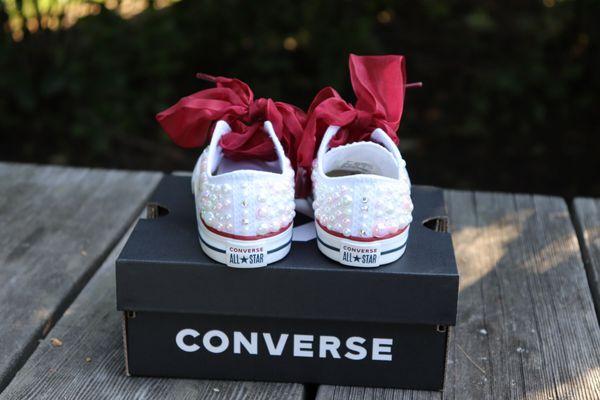 Girls custom converse