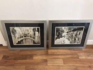 Venice Grand Canal Wall Frames Gold/Silver for Sale in Troutdale, OR