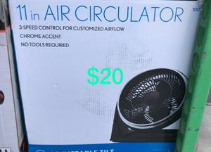 "11"" Air circulator 3 speed controls for Sale in Bakersfield, CA"