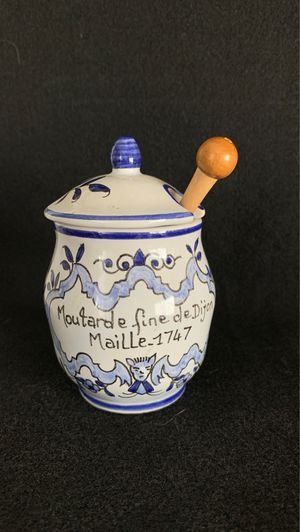 Mustard Jar with wooden spoon - Made in France for Sale in Queen Creek, AZ