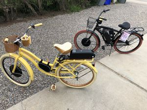 His and Her electric bikes, brand new Huffy 1kw motors custom for Sale in Poway, CA