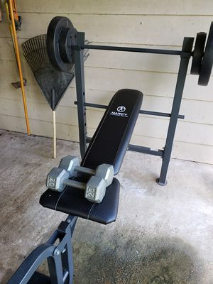 Mercury weight set, with curl bar, and dumbells for Sale in Houston, TX