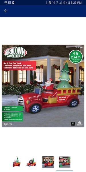 New santas truck scene inflatable for Sale in Modesto, CA