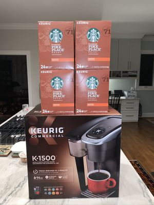Keurig K1500 with 96 Pike Place K Cups (240$ value) for Sale in Greenville, SC