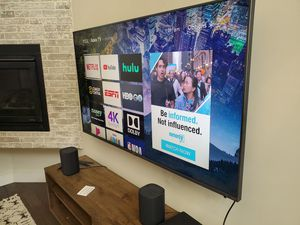 "TCL 6 series 65"" Roku TV. Comes with Roku speakers and three remotes. for Sale in Denver, CO"
