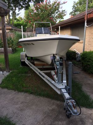 Boat, Motor, and Trailer for Sale in Houston, TX