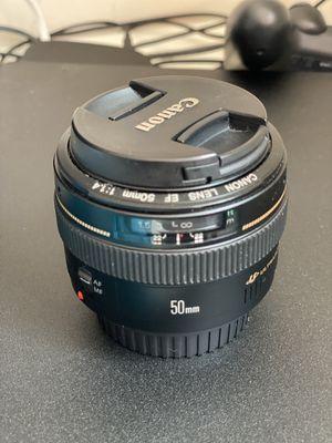 Canon EF 50mm f/1.4 USM for Sale in Perth Amboy, NJ