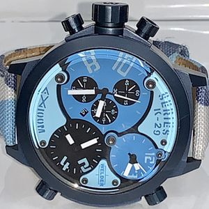 Welder by U-Boat Triple Time Zone Chronograph Camouflage Men's Watch for Sale in Dallas, TX