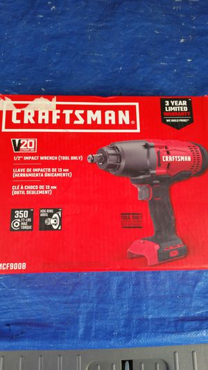 $100 .TOOL ONLY .CRAFTSMAN. 20V 1/2 impact wrench,TOOL ONLY for Sale in Evergreen, CO
