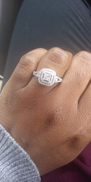 1/2 carat diamond white gold ring size 7 for Sale in Lakeland, FL