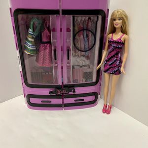 Barbie Pink Closet With Doll And Clothes for Sale in Laurel, MD