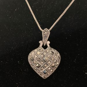 Sterling silver marcasite heart necklace for Sale in Carrollton, VA