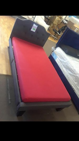 Twin size platform bed frame with Memory Foam Mattress included for Sale in Glendale, AZ