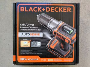 STILL AVAILABLE. New 20 volt Black and Decker Drill driver kit with battery and charger for Sale in West Columbia, SC