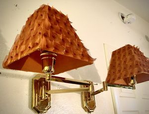 Gorgeous set of 2 adjustable wall lamps H13xW13xD10 inch for Sale in Chandler, AZ