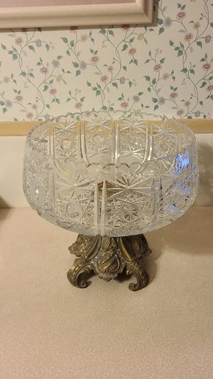 antique crystal and bronze centerpiece for Sale in Seaford, NY