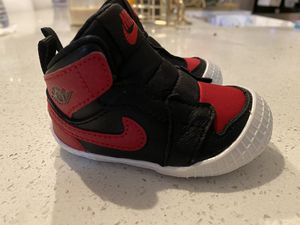 Air Jordan 1 Retro Bred Crib Bootie for Sale in DEVORE HGHTS, CA